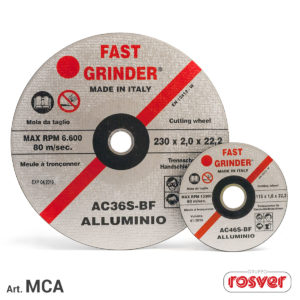 Aluminum cutting and grinding disc