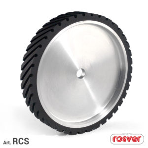 Grooved contact wheels