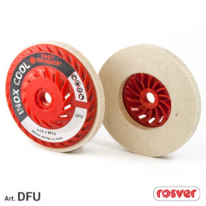 Felt discs with ventilated backing pad