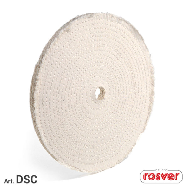 Quilted Sisal and Cotton Discs