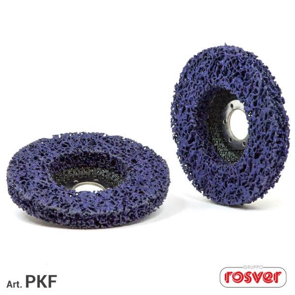 Purple Cleaner Discs on Fiber