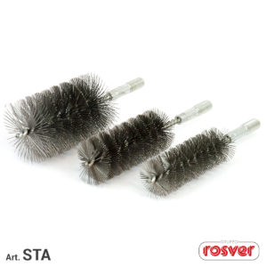 Steel brushes with thread