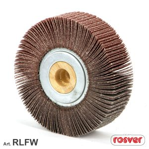Flap wheels with wooden core